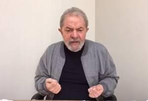 O ex-presidente Luiz Inácio Lula da Silva Foto: Reprodução / Facebook
