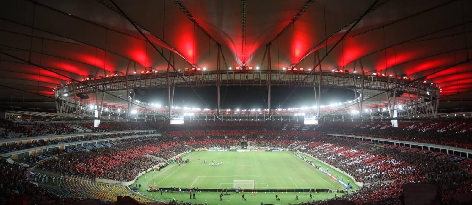 O Estádio do Maracanã lotado Foto: Divulgação/Flamengo