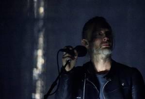 Thom Yorke, do Radiohead, no Coachella Foto: CARLO ALLEGRI / REUTERS