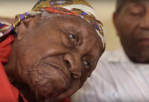 A jamaicana Violet Brown agora é a pessoa mais velha do mundo Foto: Reprodução/YouTube