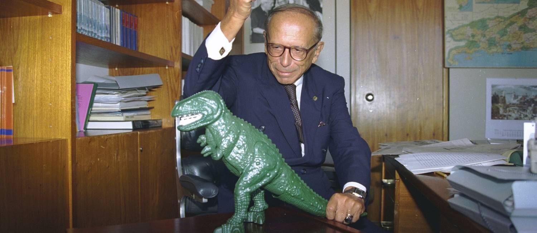 07.06.1995 - Sergio Marques / arquivo - PV - Roberto Campos - dinossauro Foto: Sergio Marques / Sergio Marques/Arquivo/7-6-1995