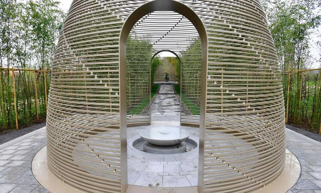 """A China está presenta no International Garden Exhibition (IGA), com o """"Dule Yuan"""", ou """"Jardim da Alegria Solitária"""" Foto: JOHN MACDOUGALL / AFP"""