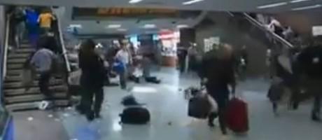 Boato de atirador em atividade causou pânico em estação Foto: Reprodução/Twitter