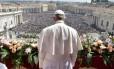 """Papa discursa para a multidão na bênção """"Urbi et Orbi"""""""