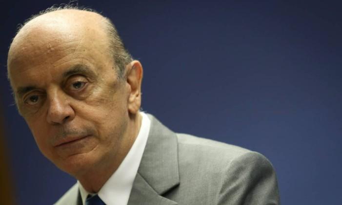 O senador José Serra (PSDB-SP) Foto: André Coelho / 9-11-2016