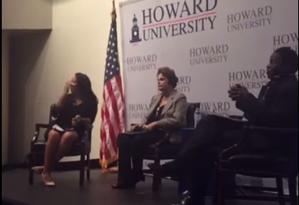 Dilma participou de palestra em universidade americana Foto: Reprodução