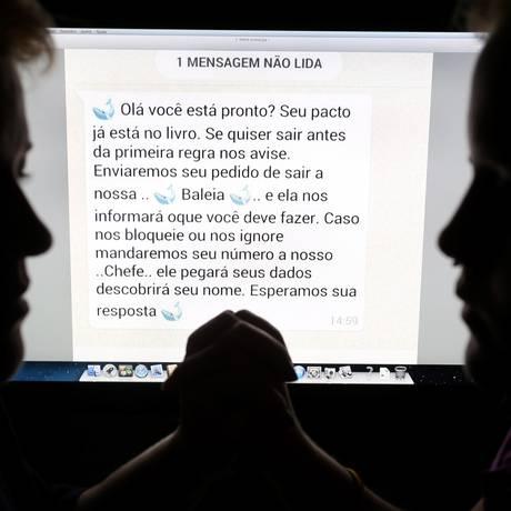 Menina que participou do jogo foi impedida pela mãe de se matar Foto: Marcelo Theobald / Agência O Globo