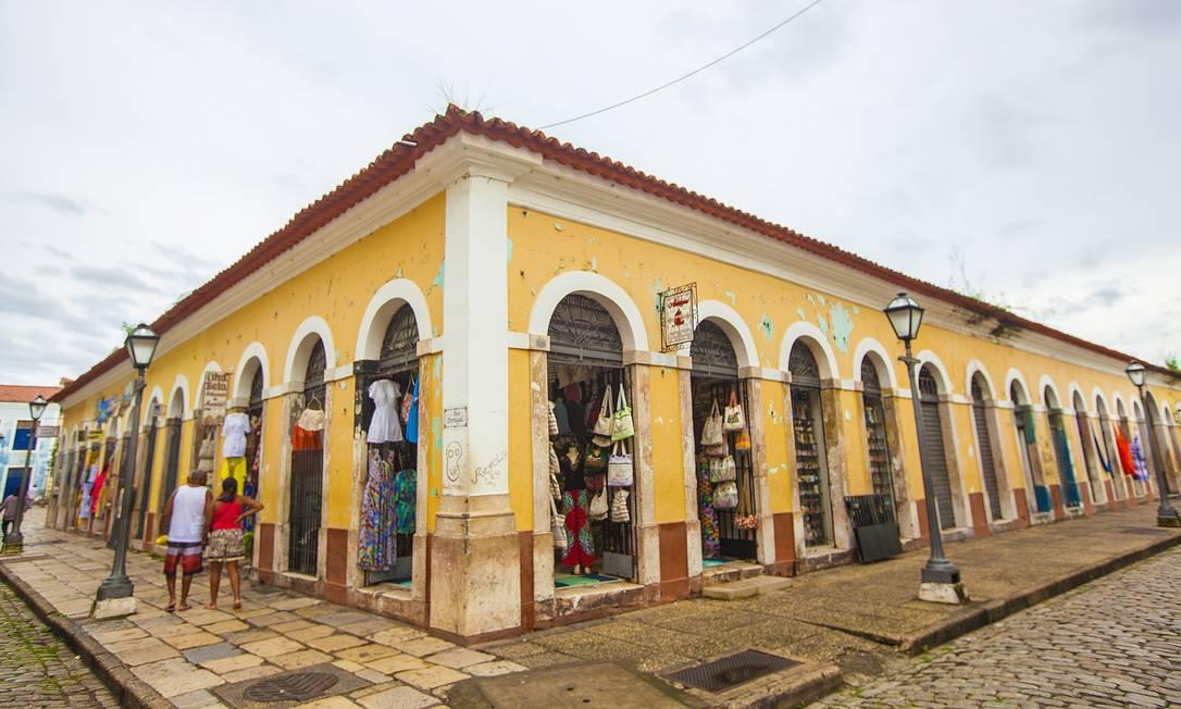 Lojas de artesanato são atração para turistas no Centro Histórico de São Luís, que passa por uma necessária revitalização. Elisa Martins / Elisa Martins