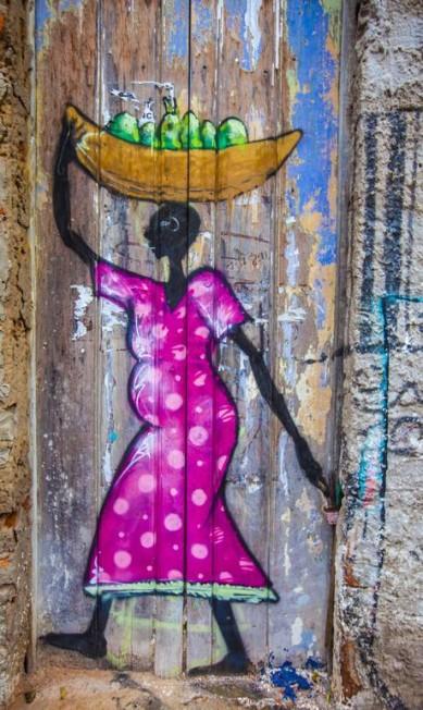 Pintura urbana relembra mistura de influências no Maranhão: negros, índios e europeus fazem parte de sua História. Elisa Martins / Elisa Martins
