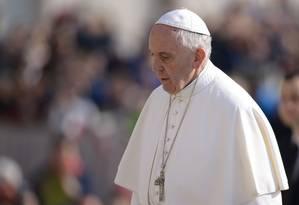 Papa Francisco recusa convite para vir ao Brasil e pede a Temer atenção aos pobres Foto: FILIPPO MONTEFORTE / AFP