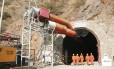 Túnel perfurado pela Odebrecht para transposição de rios no Peru