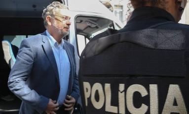 Antônio Palocci, quando foi detido em setembro do ano passado na Operação Lava-Jato Foto: Geraldo Bubniak/ 26-9-2016 / Agência O Globo