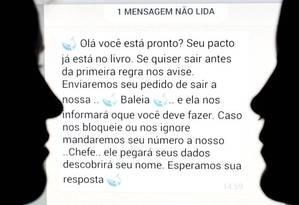 'Baleia Azul' coopta jovens a 50 desafios, entre eles, o suicídio Foto: Marcelo Theobald / Agência O Globo