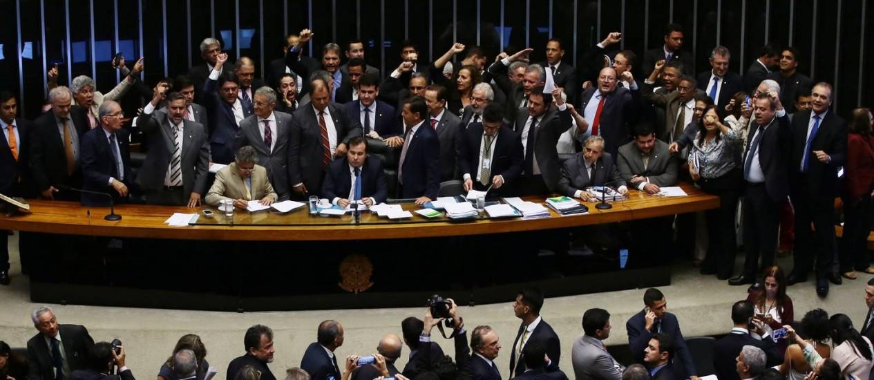 Sessão de votação do projeto de recuperação fiscal dos estados Foto: Givaldo Barbosa / Agência O Globo
