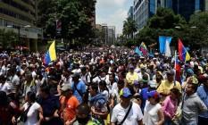 Venezuelanos protestam contra o presidente do país, Nicolás Maduro Foto: RONALDO SCHEMIDT / AFP