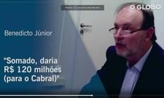 """Benedicto Júnior, que comandava o """"departamento da propina"""" Foto: Reprodução"""