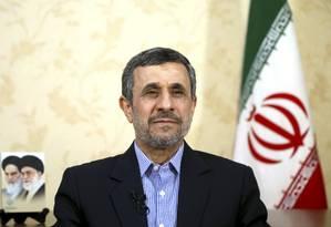 O ex-presidente iraniano Mahmoud Ahmadinejad é entrevistado pela The Associated Press Foto: Ebrahim Noroozi / AP