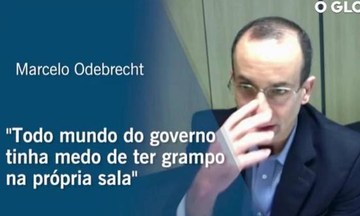 Delação de Marcelo Odebrecht Foto: Reprodução