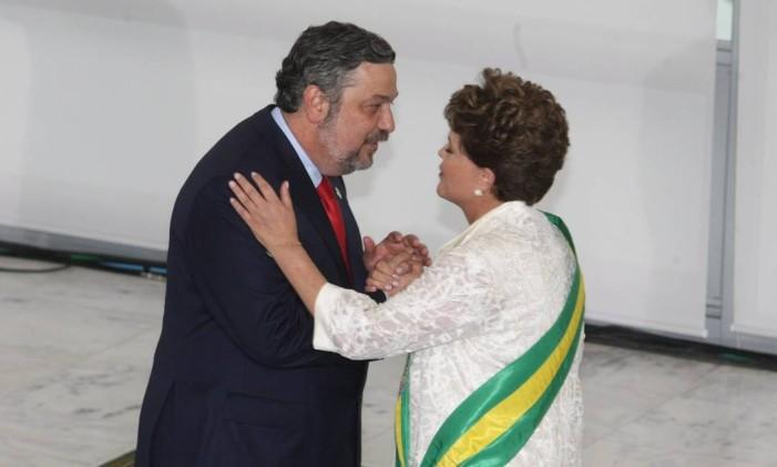 Palocci volta à Esplanada dos Ministérios com a chegada de Dilma à Presidência em 2011 Foto: Givaldo Barbosa / 1-1-2011