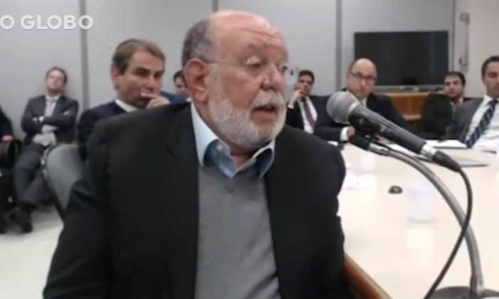 O ex-presidente da OAS, em depoimento ao juiz Sérgio Moro Foto: Reprodução