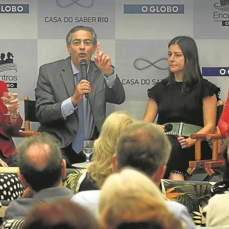 Ligia Py, Claudio Domênico, Josy Fischberg e Claudia Burlá se reuniram na terça-feira na Casa do Saber Foto: Gustavo Miranda