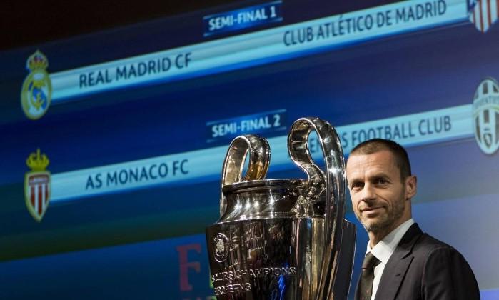 Sorteio define clássico espanhol nas semifinais da Liga dos Campeões
