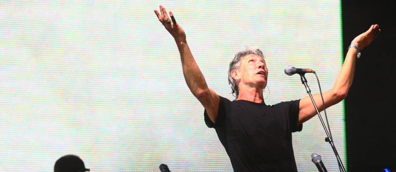 Show de Roger Waters na praça da Apoteose Foto: André Coelho / O Globo