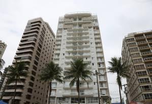 Apartamento tríplex no Edifício Solarius, no Guarujá, que seria de Lula, segundo Léo Pinheiro Foto: Marcos Alves