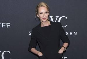 Uma Thurman participa de evento no Tribeca Film Festival 2017, em Nova York. Foto: Charles Sykes / Charles Sykes/Invision/AP