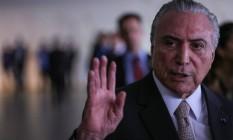 O presidente Michel Temer no Palácio Itamaraty Foto: ANDRE COELHO / Agência O Globo