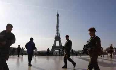Eleição na França acontece sob forte aparato de segurança Foto: LUDOVIC MARIN / AFP