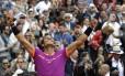 Rafael Nadal comemora sua vitória no Masters 1000 de Monte Carlo Foto: Claude Paris / AP