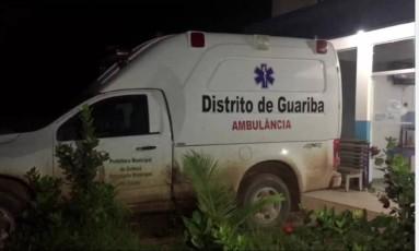 Ambulância levou corpos para perícia Foto: Reprodução/ TVCA