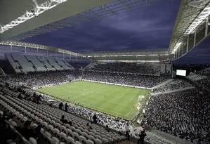 Arena Corinthians, em Itaquera, construída para a Copa do Mundo de 2014 Foto: Andre Penner / AP