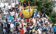 Oposição faz marcha silenciona neste domingo contra o governo do presidente venezuelano, Nicolás Maduro Foto: FEDERICO PARRA / AFP