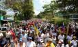 Oposição fez marcha silenciona neste sábado contra o governo do presidente venezuelano, Nicolás Maduro