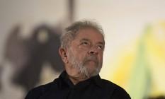 Lula durante evento político: preocupação com delações Foto: Michel Filho / Agência O Globo