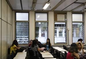 Sala de aula na UFF em Niterói Foto: Eduardo Naddar / Agência O Globo