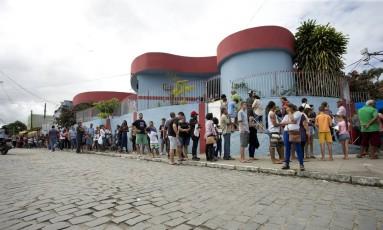 Após confirmação de morte por febre amarela, prefeitura de Maricá faz um mutirão de vacinação na cidade Foto: Márcia Foletto / Agência O Globo