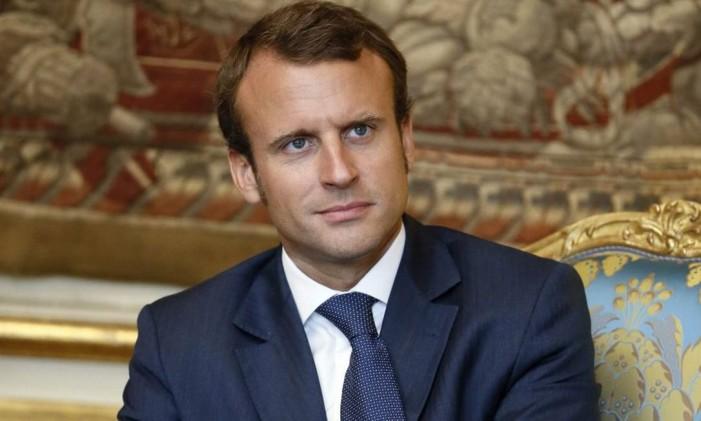 Em setembro de 2014, Macron participa de reunião sobre energia no Palácio do Eliseu Foto: PATRICK KOVARIK / AFP