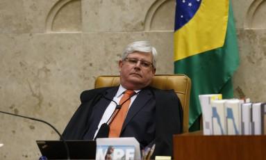 O procurador-Geral da República, Rodrigo Janot, no Plenário do STF Foto: Ailton de Freitas / Agência O Globo 19-04-2017