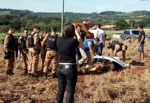 Suspeito de roubar 40 milhões de dólares de banco no Paraguai é morto em troca de tiros em Itaipulândia, no Paraná Foto: Divulgação