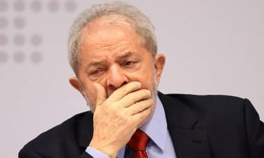 O ex-presidente Luiz Inácio Lula da Silva Foto: Jorge William / Agência O Globo 24-04-2017