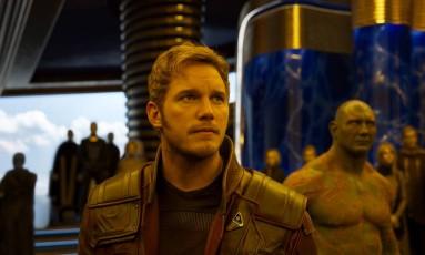 Chris Pratt como Peter Quill, o Senhor das Estrelas, em 'Guardiões da Galáxia - Vol. 2': o filho Foto: Divulgação