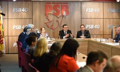 Reunião Executiva Nacional do PSB Foto: Humberto Pradera / Agência O Globo