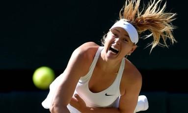 Maria Sharapova em ação no torneio de Wimbledon: retorno está próximo após doping Foto: Toby Melville / REUTERS