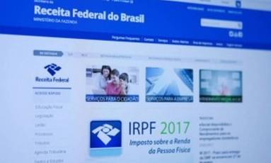 Imposto de Renda 2017 / Site da Receita Federal. Foto: Michel Filho/Agência O Globo