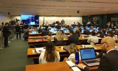 Sessão da comissão especial que discute a reforma da Previdência Foto: Geralda Doca / Agência O Globo