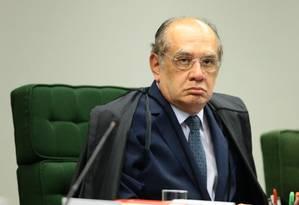 O ministro do STF Gilmar Mendes, presidente do Tribunal Superior Eleitoral (TSE) Foto: Jorge William / O Globo - 25/04/2017