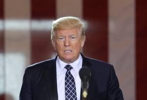 Presidente dos EUA, Donald Trump, faz discurso no Museu Memorial do Holocausto, em Washington, Foto: YURI GRIPAS / REUTERS